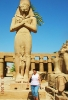 Египет.Луксор. Карнакский храм. Статуя Пинеджема, великого жреца Амона