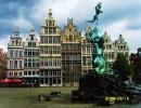 Бельгия. Антверпен. Площадь Хроте-Маркт и фонтан Брабо