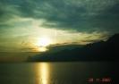 Италия. Закат на озере Гарда